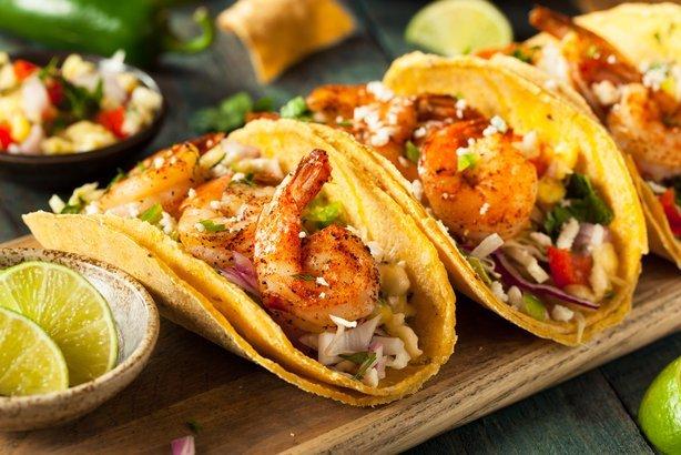 Tacos Con Camarón Para Cocinar En Poco Tiempo