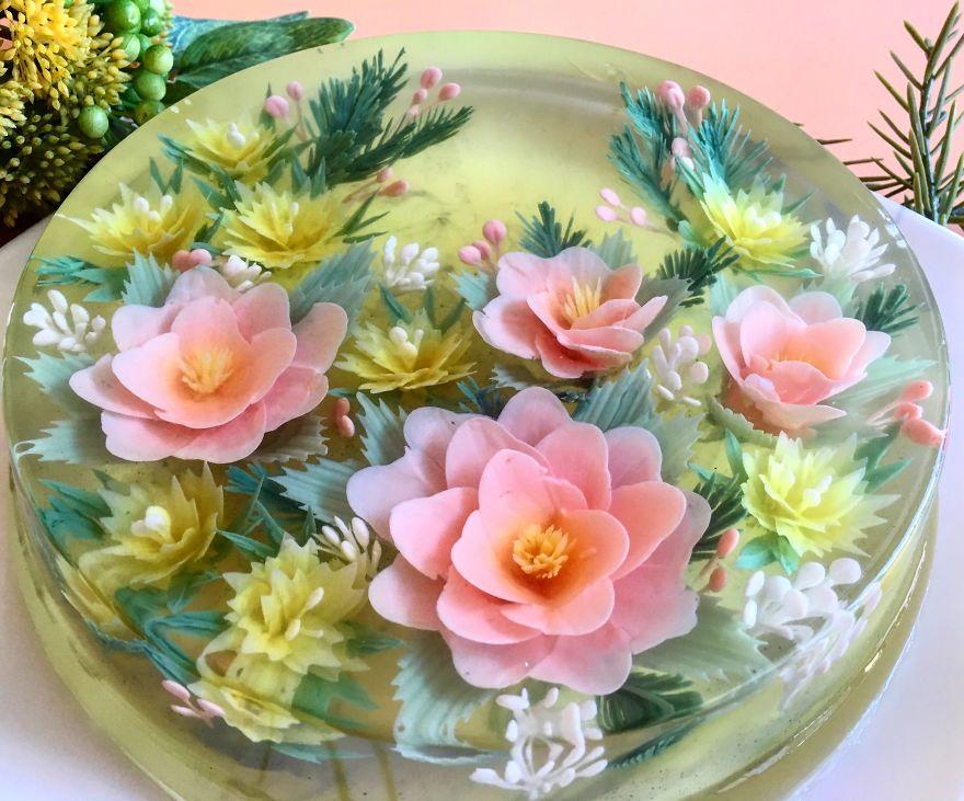 Como Hacer Gelatinas En 3D, 🌺🍮🌼 Nueva Técnica de Gelatinas Florales.